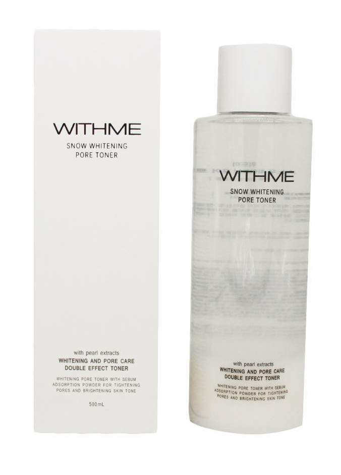 WITHME] Тонер для лица ОСВЕТЛЯЮЩИЙ Snow Whitening Pore Toner, 500 мл
